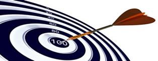 dartboard - hit target 100%