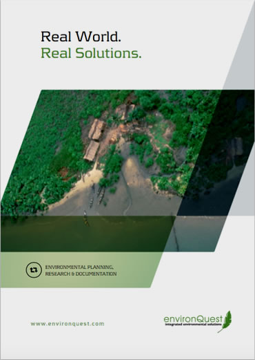 environquest brochure cover – copywriting