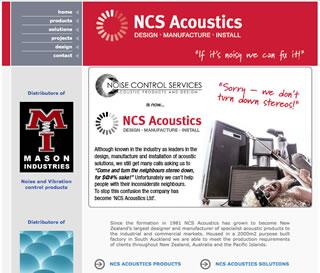 NCS Acoustics Old Website Copywriting